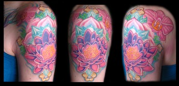 Tattoos - Lotus cover up.. - 36848