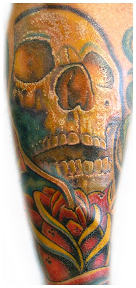 Tattoos - Skull and rose tattoo - 57254