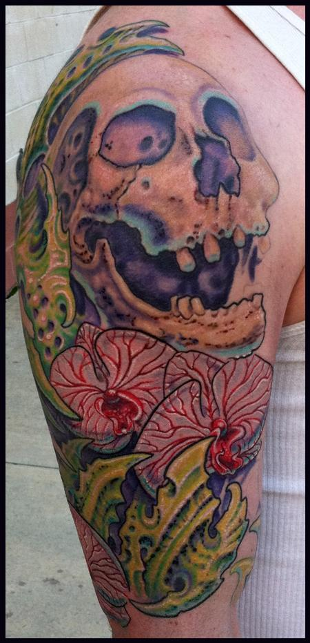 Looking for unique  Tattoos? skulls orchids and bio tattoo