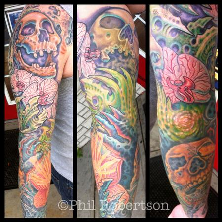 Tattoos - kull and bio sleeve - 79951