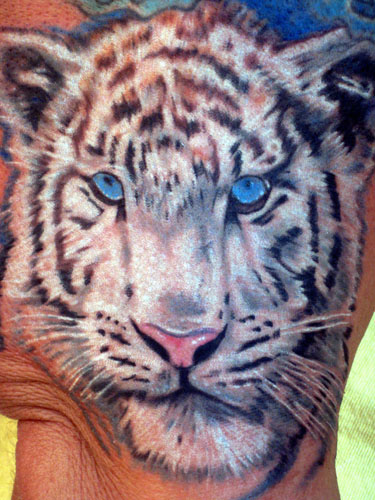 Siberian white tiger by phil robertson tattoos for White tiger tattoo