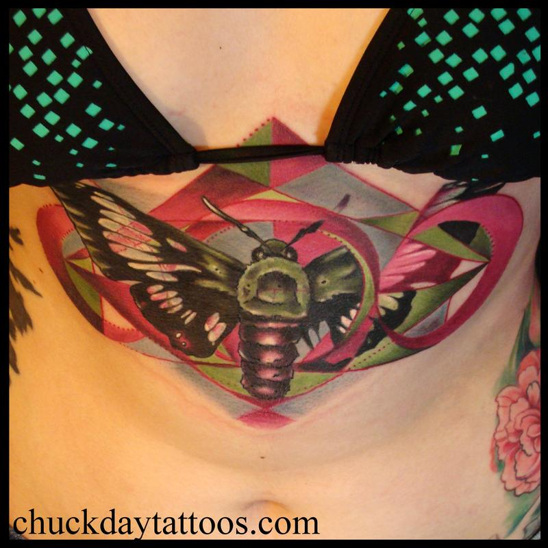 clearwing sphinx moth by chuck day tattoonow. Black Bedroom Furniture Sets. Home Design Ideas