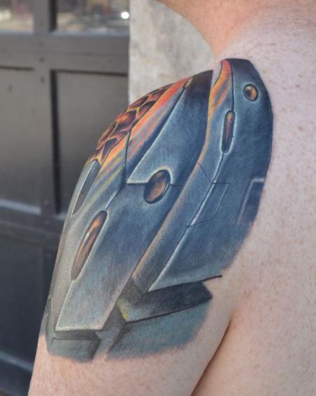 Tattoos - bio-mech shoulder 2 - 89759