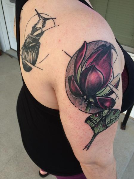 Tattoos - Lotus Moth Crescent - 128269