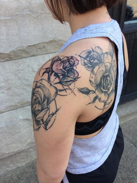 Tattoos - Maddie'sshoulder cap - 128274