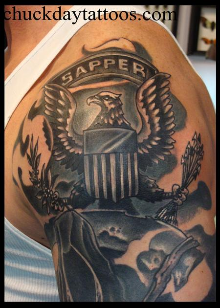 Sapper by chuck day tattoos for Combat engineer tattoo