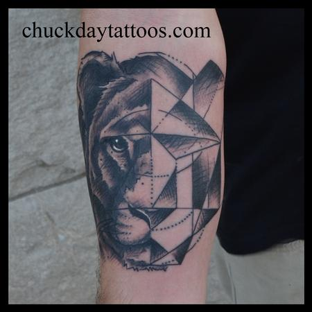 Tattoos - Geo Lion - 96470