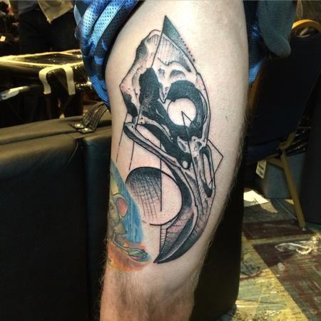 Tattoos - Flamingo skull - 115165