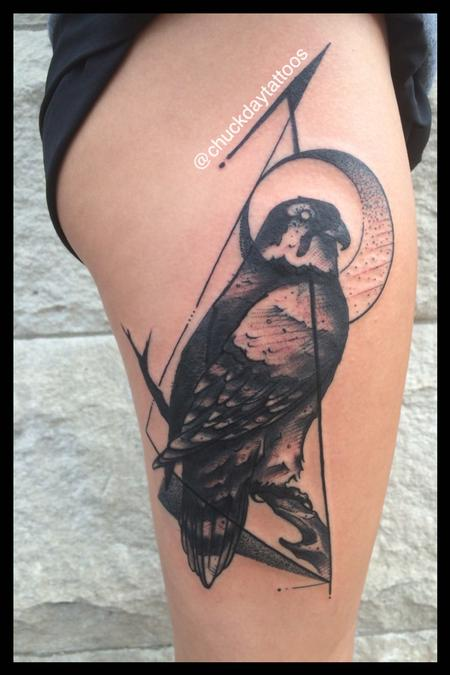 Tattoos - Zoey's Falcon - 120157