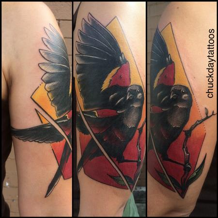 Tattoos - Red winged Blackbird - 120168