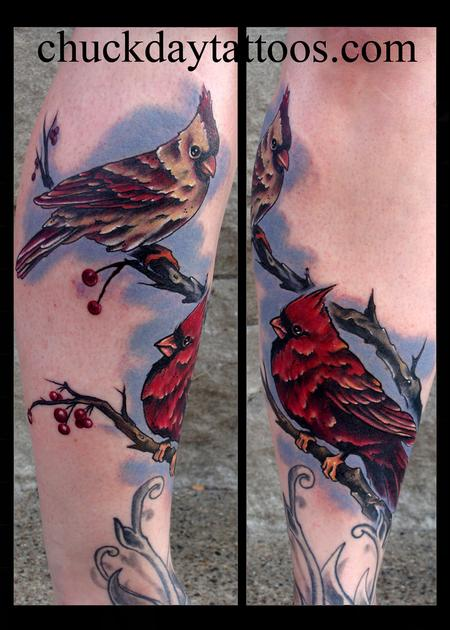 Love Birds split pic Tattoo Design Thumbnail