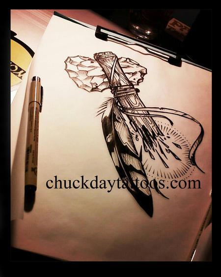 Tattoos - tomahawk inked sketch - 71817