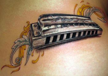Tattoos - Harmonica tattoo - 33084