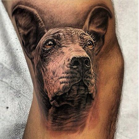 Peruvian Hairless dog Tattoo Design Thumbnail