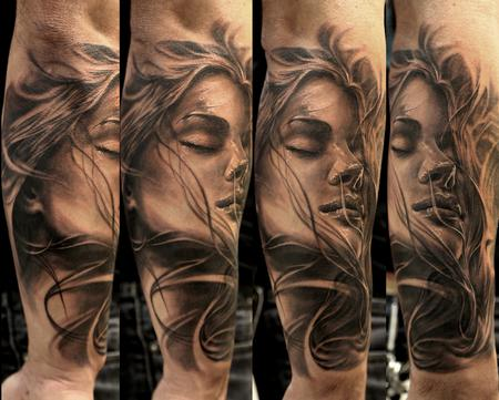 Tattoos - woman and wind - 93906