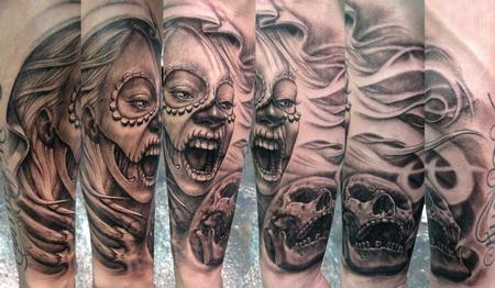 Tattoos - Death biting Death - 62215