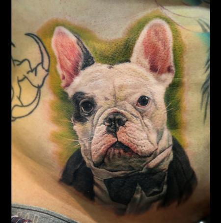French Bulldog Portrait Tattoo Design Thumbnail