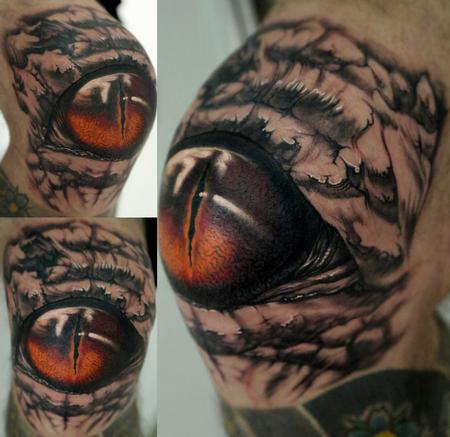 Knee Eye Tattoo Design Thumbnail