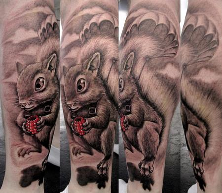 Squirrel Tattoo Design Thumbnail