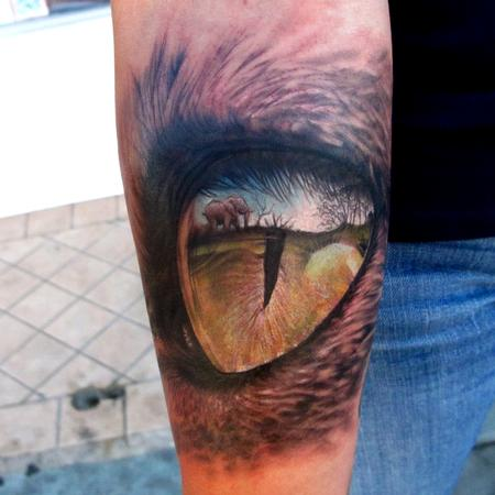 Eye Reflection Tattoo Design Thumbnail