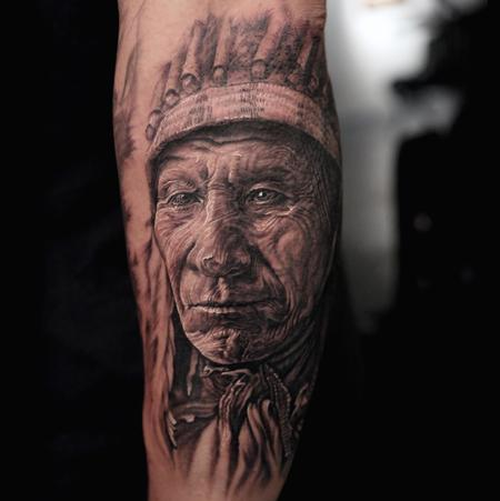 Indian Chief  Tattoo Design Thumbnail