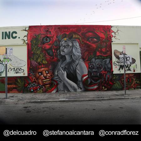 Tattoos - Mural Wynwood ART BASEL 2014 - 98768