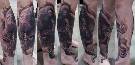 Tattoos - Octopus Leg piece - 77228