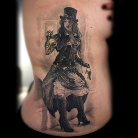 Steampunk Tattoo Design Thumbnail