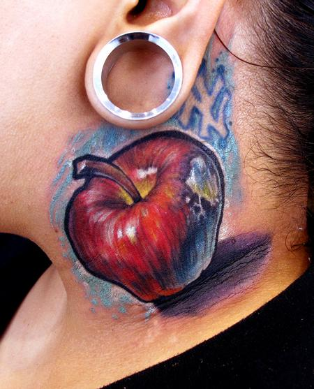 Apple neck tattoo Tattoo Design Thumbnail