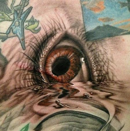 Eye in water Tattoo Design Thumbnail