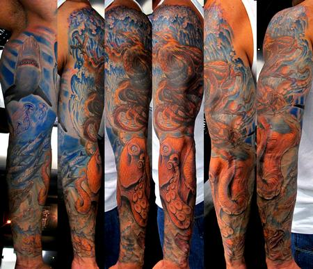 Tattoos - Freehand Underwater sleeve - 65033