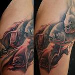 Tattoos - FreeHand Piranhas Leg Sleeve - 102252