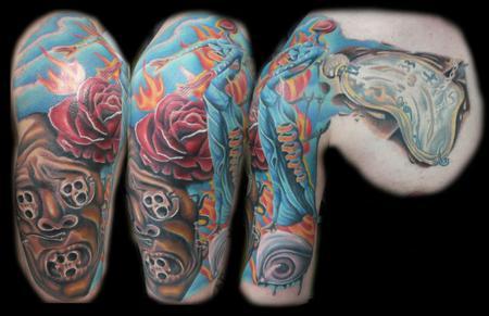 Tattoos - Dali Inspired Half Sleeve Tattoo - 66735