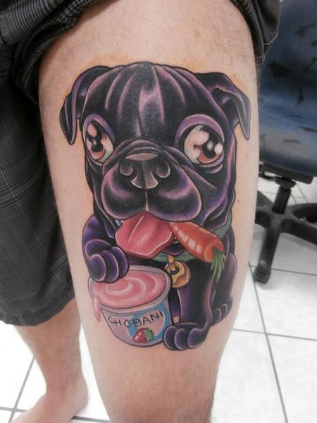 Tattoos - Pug Tattoo - 66736