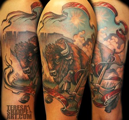 Teresa Sharpe - Buffalo on Upper Arm