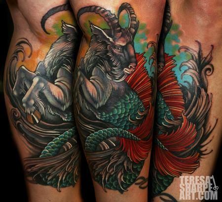 Teresa Sharpe - MerGoat Capricorn Tattoo