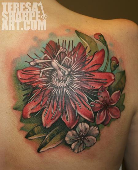 Passion Flower Tattoo Design Thumbnail