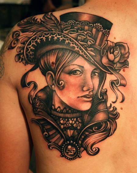 Victorian Lady Tattoo Design Thumbnail