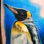 King Penguin Tattoo Design Thumbnail