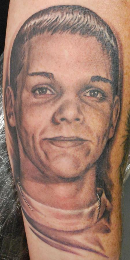 Tattoos - Black and Grey Portrait Tattoo - 64923