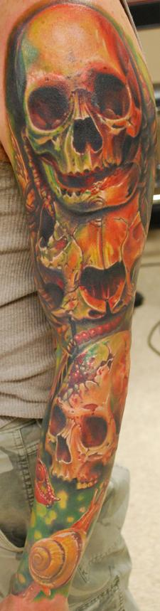 Tattoos - Color Skull Sleeve - 64924