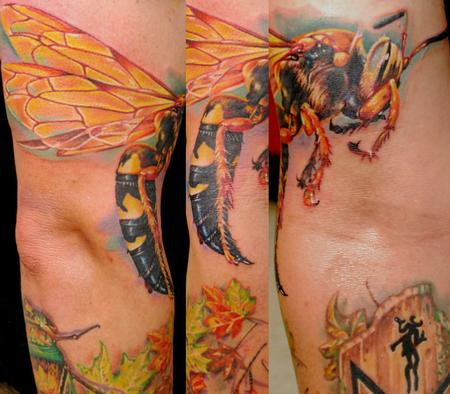 Tattoos - Realistic Bee Tattoo - 64921