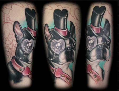 Tattoo Gathering : Tattoos : Tanane Whitfield : Boston Terrier Tattoo