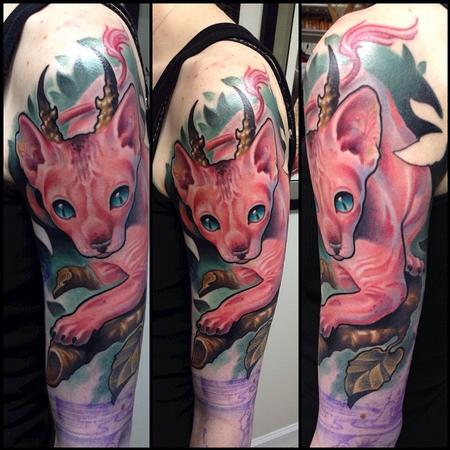 Cat Tattoo Tattoo Design Thumbnail