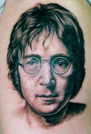 Tattoos   Shane ONeill. John Lennon. Now viewing image 0 of 100 previous