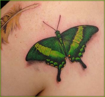 Shane ONeill - Green Butterfly Tattoo