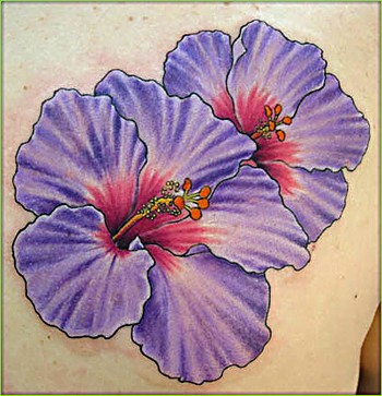 Purple Flower Tattoo Designs