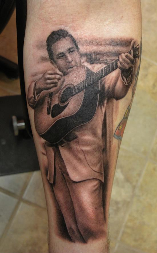 johnny cash by shane oneill tattoos. Black Bedroom Furniture Sets. Home Design Ideas