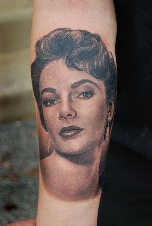 Portrait of young elizabeth taylor by shane oneill for Taylor st tattoo