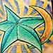 Tattoos - Moon Star Tattoo - 35310